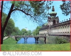 Dresden - The Zwinger Palace. Crown gate (1986)