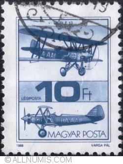 Imaginea #1 a 10 Forint 1988 - Avionul Gerle 13
