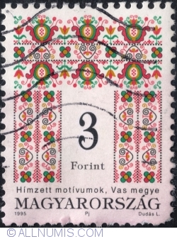 Imaginea #1 a 3 forints - Folk design 1995