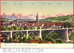 Berna - View of city and Alps from Kursaal Schänzli