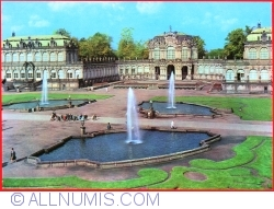 Dresden - The Zwinger Court with Wallpavillon