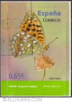 Image #1 of 0.65€ 2011-Argynnis adippe