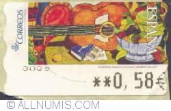 Image #1 of 0,65 € - Guitarra con frutas ( Guitar with Fruit)