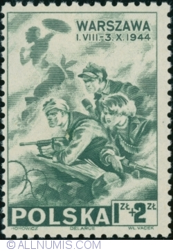 1 Złoty + 2 Złote 1945 - The Warsaw Uprising