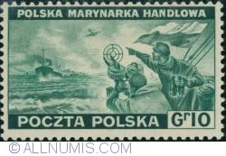 Image #1 of 10 Groszy 1943 - Polish Merchant Navy