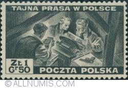 Image #1 of 1 Złoty 50 groszy 1943 - The Secret Press in Poland