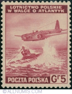 Image #1 of 5 Groszy 1943 - Polish Air Force in Battle of the Atlantic