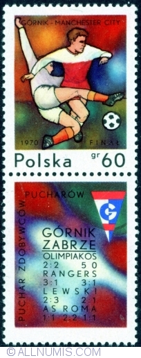 Image #1 of 60 Groszy 1970 - European Soccer Cup Finals