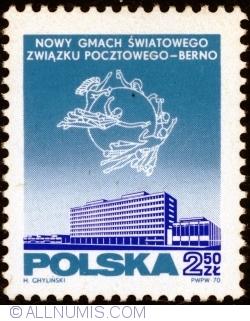 Image #1 of 2,50 Złoty 1970 - Inauguration of new UPU headquarters, Bern