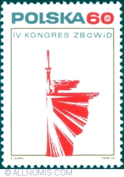 Image #1 of 60 Groszy 1969 - The IV Congress ZBOWiD (Związek Bojowników o Wolność i Demokrację - Society of Fighters for Freedom and Democracy)