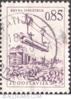 Image #1 of 0,85 Dinara 1966 - Lumber industry