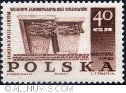 Image #1 of 40 Groszy 1967 - Memorial in Łambinowice
