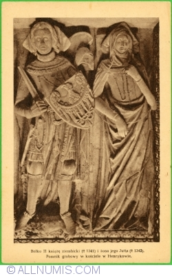 Image #1 of The tombstone in the church in Henryków (Bolko II and his wife Jutta) (1945)