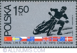 Image #1 of 1,50 Złoty 1973 - Motorcyclist