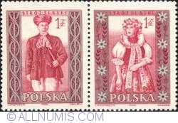 1 złoty; 1 złoty - Man and woman from Silesia.