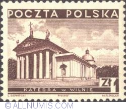 Image #1 of 1 Zloty 1935 - Cathedral, Wilno