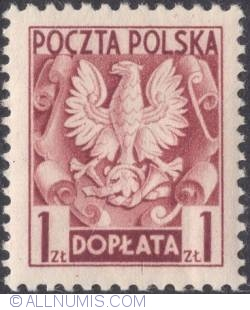 1 złoty - Polish Eagle ( Without imprint )