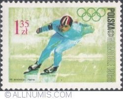 Image #1 of 1,35 Złoty 1968 - Winter Olympics, Grenoble 1968 - Ice skating