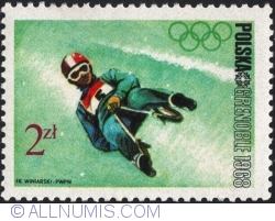 Image #1 of 2 Złote 1968 - Winter Olympics, Grenoble 1968 - Sledge