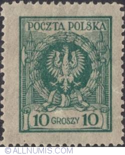 Image #1 of 10 Groszy 1924 - Eagle in wreath
