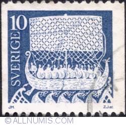 Imaginea #1 a 10 Öre 1976 - Viking ship
