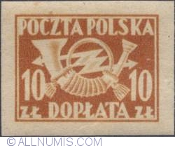 Image #1 of 10 złotych - Post Horn with Thunderbolts (imper.)