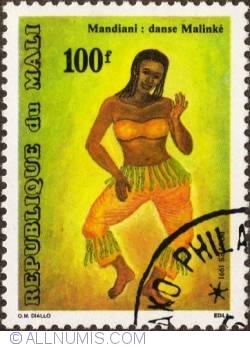 Image #1 of 100 Francs 1991 - Dancing girl (Mandiani)