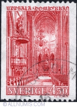 Image #1 of 4,50 Kronor - Uppsala Cathedral 1967