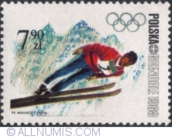 Image #1 of 7,90 Złotych 1968 - Winter Olympics, Grenoble 1968 - Ski jumping