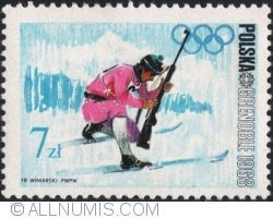Image #1 of 7 Złotych 1968 - Winter Olympics, Grenoble 1968 - Biathlon