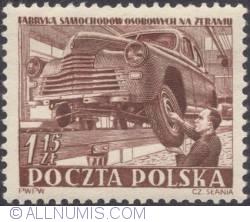 Image #1 of 1,15  złotego 1952 - Auto Assembly Plant,