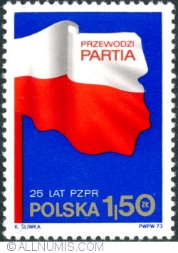 Image #1 of 1,50 Złoty 1973 - Polish Flag