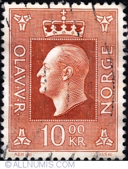10 Kroner 1970 - Regele Olav V