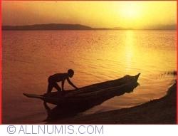 Image #1 of Sunset on Lake Lere (Mayo Kebbi)