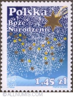 Image #1 of 1,45 Zloty 2008 - Christmas