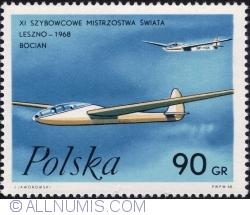 "Image #1 of 90 Groszy 1968 - ""Storks"" Glider"