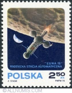 Image #1 of 2,50 Złoty 1970 - Luna 16 Landing on Moon