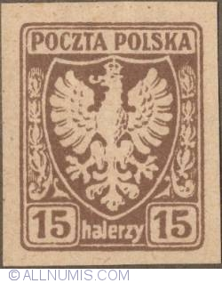 Image #1 of 15 Halerzy 1919 - Eagle - Coat of arms