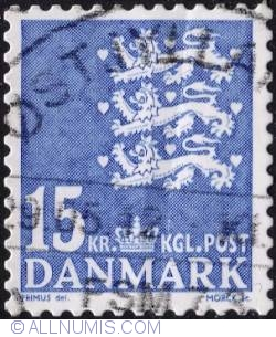 Image #1 of 15 kroner 2010 - Coat of Arms (Three Lions)
