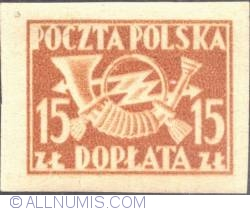 Image #1 of 15 złotych - Post Horn with Thunderbolts (imper.)