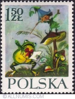 Image #1 of 1,50 złotego - The gnome Modraszek conducting the orchestrating frog