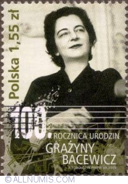Image #1 of 1,55 Zloty 2009 - 100th Anniv. of the birth of Grażyna Bacewicz