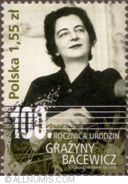 Imaginea #1 a 1,55 Zloty 2009 - 100th Anniv. of the birth of Grażyna Bacewicz