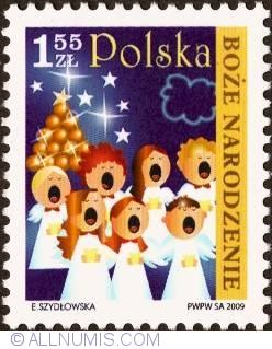 Image #1 of 1,55 Zloty 2009 - Singing Engels