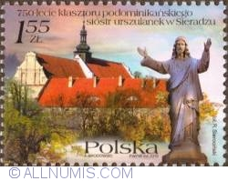 Image #1 of 1,55 Zloty 2010 - 750 years of Sieradz's monastery