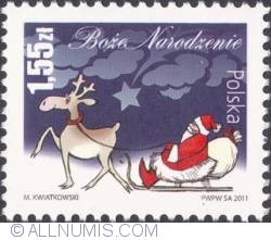 Image #1 of 1,55 złoty 2011 - Santa Claus in a sleigh