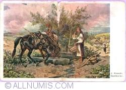 "Image #1 of ""Rendezvous"" by J. Kossak. (1912)"