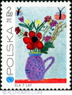 Image #1 of 2,50 Złoty  1971 - Flowers in Vase by Ela (Hyciuk) 7 years