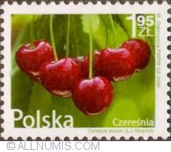 Image #1 of 1,95 Zloty 2009 - Wild cherry (Cerasus avium)