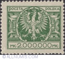 2 000 000 Marek 1924 - Eagle on a large baroque shield